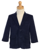 Navy Blue Two-Button Boys Corduroy Blazer Jacket  605