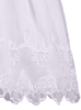 Organza & Satin Baby Girls Christening Gown w. Embroidered Overlay  2560
