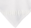 Windowpane Trim White Cotton Knit Blanket Infant Boys (WK235BK)