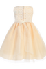 Peach Satin, Venise Lace & Tulle Overlay Easter Spring Dress Girls (M718)