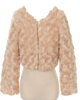 Taupe Fur Cropped Length Girls Occasion Jacket (330)