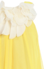 Yellow & Ivory Chiffon Girls Shift Dress w Petal Trim (284)