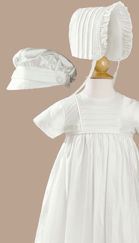 Silk Heirloom Christening Gown Baby Boys or Girls (DPF50G)