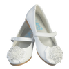 White Dress Shoes w Crystal Beads & Strap Baby Girls (ANNA)