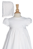 Intricate Lace 100% Cotton Handmade Christening Gown (CO26GS)