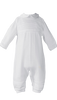 White 100% Cotton Knit One Piece Coverall Baby Boys (CKNIT1)