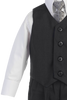 Boys Charcoal Grey 4-pc Vest & Trousers Dresswear Set  8570