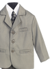 Light Grey Single Breasted Dress Suit 5 Piece Boys (3710)
