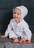 Pin Tucked & Smocked 100% Cotton Handmade Christening Coverall Outfit (CB9381)