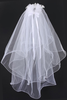 Marquise Rhinestone & Crystal Crown Tiara w. White Communion Veil Veil017