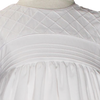 Lattice & Embroidery Cotton Handmade Christening Gown (CO28GS)