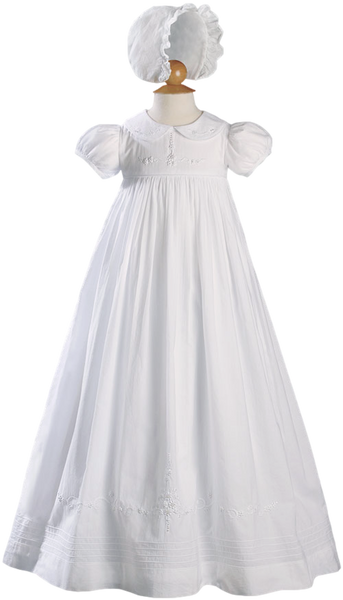 Traditional Handmade Girls Cotton Christening Gown (CA54GS)