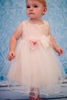 Infant Girls Dusty Rose Faux Silk Dress w. Tulle Skirt & Flower Waist KD428B