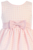 Pink Satin & Burnout Organza Overlay Girls Easter & Spring Dress (M732)