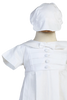 Pin Tucked Coverall & Cap PolyCotton Christening Outfit (Gabriel)
