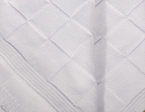 Checkerboard Pattern Cotton Knit Shawl Blanket Infants (CKCSHAWL)