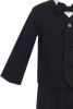 Black Linen Blend Eton Jacket & Shorts Outfit 4 Pc Set (Baby 6 months - Boys Size 5)