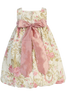 Dusty Rose Floral Print Cotton Easter Spring Bubble Dress Baby Girls (M652)