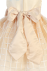 Girls Champagne Shantung & Embroidered Organza Dress 6m-12