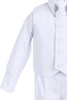 Boys White 4-pc Vest & Trousers Dresswear Set  8570