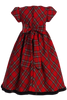 BACK OF RED & GREEN PLAID DRESS (C813)