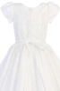 Floral Beaded Appliques on White Tulle First Holy Communion Dress (SP977)