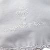 Venise Lace & Puff Cross Handmade Christening Bib Girls (EGXB2)