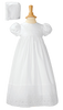 Eyelet Lace Handmade 100% Cotton Girls Christening Gown (BJ24GS)
