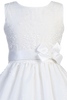 Floral Embroidered Organza Girls Plus Size Communion Dress SP110