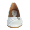 White Dress Shoes w Rhinestone Heart & Faux Bow Girls (WENDY)