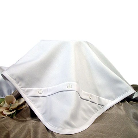 Handmade White Pleated Gabardine Blanket Infant Boys (5GBBBK)