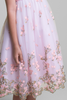 Pink Organza Overlay Girls Dress w Embroidered Flowers & Butterflies (388)