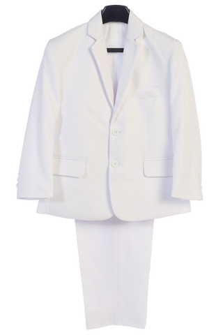 Boys White 2pc Husky Suit w. 2-Button Jacket & Trousers 3580