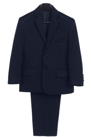 Boys Navy 2pc Husky Suit w. 2-Button Jacket & Trousers 3580