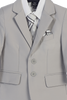 Light Grey 5-pc Boys Two Button Suit with Vest 3582