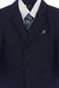 Navy 5-pc Boys Two Button Suit with Vest  3582