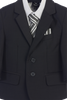 Dark Gray 5-pc Boys Husky Two Button Suit with Vest 3582