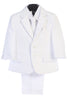 White 5pc Husky Boys Two Button Pants Suit with Vest 3585