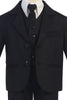 Boys Black 5pc Dress Suit w. 3-Button Jacket 3710