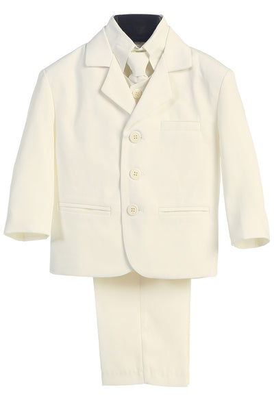 Boys Ivory 5pc Dress Suit w. 3-Button Jacket 3710