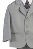 Boys Light Grey 5pc Dress Suit w. Vest & Jacket 3807