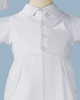 Vested Gabardine Coverall Handmade Christening Outfit (GBS01S)