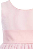 Pink Cotton Seersucker Girls Easter Spring Dress w PolySilk Sash (M642)