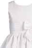 White Striped Organza Girls Sleeveless Communion Dress w. Bow  SP152
