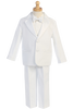 Boys White 2-Button Single Breast Tuxedo w. Cummerbund 7535