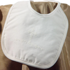 Screened Cross Small Handmade Christening Bib Baby Boys (ABXB40)