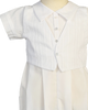 Cotton Blend Boys Baptism Coverall w. Embroidered Vest & Hat Tristan