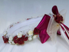 Burgundy Silk Floral Crown Wreath with Back Bows Girls (HB007)