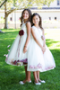 Satin & Tulle Flower Girl Petal Dress w Color Choices (KD160B)