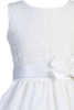 Floral Embroidered Organza Overlay Girls Communion Dress  SP110